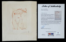 1960's Vintage SALVADOR DALI Hand Signed SPACE ELEPHANT Etching with PSA/DNA COA