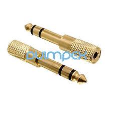 K17 Klinken Adapter 6,35mm Stecker auf 3,5mm Buchse stereo Audio HIFI vergoldet