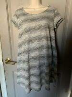 Mossimo Supply Co Women's Gray Striped Dress Size Small NEW