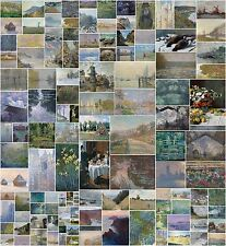 Collection of 144 paintings by Claude Monet in very high resolution on DVD