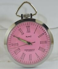 For Unisex Use Working Good D-266-10 Vintage Hmt 17Jewels Winding Pocket Watch