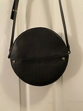 Pre-Owned Ann Taylor Factory Round Circle Black Crossbody Bag Purse