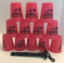 WSSA Speed Stacks Sport Stacking Cups 12 Cups With Holder Stick