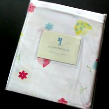 Pottery Barn KIds Ladybug Twin Duvet Cover Cotton Percale Pastels Flower Power