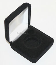 Black Felt COIN DISPLAY GIFT METAL DELUXE PLUSH BOX holds 1-Half Dollar U.S. JFK