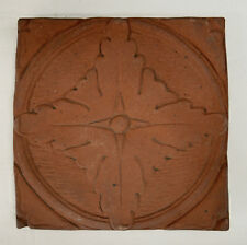 Batchelder Unglazed Floral Tile Vintage California