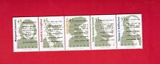 1996  #  1626ai  5  STAMPS STRIP  CANADA  CANADIAN AUTHERS  -   JT18