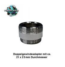 Wasserhahn Adapter Doppelgewinde ca. 21x23mm Wasserfilter Osmose Anlage Aufsatz