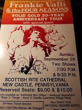"""Frankie Valli & The Four Seasons Promo Poster 14""""x22"""""""