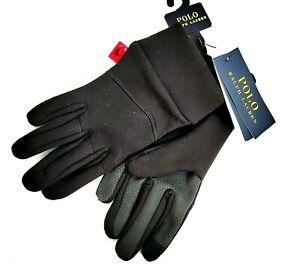 Polo Ralph Lauren Men's Black Classic Jersey Fleece I-Touch Gloves 2XL NWT