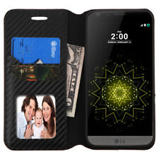 For LG G5 Leather Flip Card Wallet Case Protective Phone Cover Pouch Book BLACK