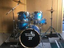 JAZZ SET  !!  TAMBURO Schlagzeug T5 Serie Plus in blue sparkle 5 teilig