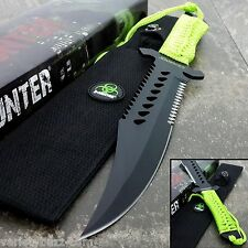 "12"" FIXED BLADE Tactical Survival HUNTING Knife Bowie w/ Z Sheath ZOMBIE MACHETE"