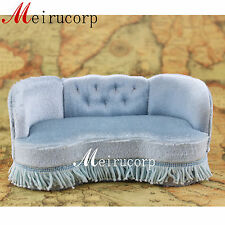 Fine miniature furniture 1/12 scale handcrafted high quality sofa for dollhouse