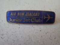 Vintage Air New Zealand Junior Jet Club Badge Metal Enamel (1)