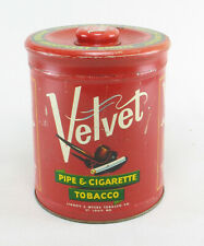 Velvet Pipe & Cigarette Tobacco Blechdose Dose Vintage tin can made in u.s.a
