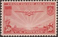 US Stamp - 1937 50c China Clipper - Block of 4 Stamps - VF MVLH #C22