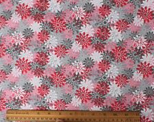 SNUGGLE FLANNEL * FLORAL BURST in PINK & GRAY * 100% Cotton Fabric NEW BTY