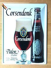 Cornice insegna bar trattoria Placca Birra CORSENDONK PATER timbrato 30/40cm
