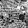 A4 B&W VW T4 TRANSPORTER BOMBING* STICKER DECAL Mr Oilcan Original