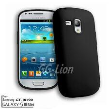 black.soft Silicon Case Skin Cover for Samsung Galaxy S III Mini,GT- i8190