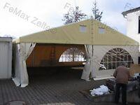 Festzelt Partyzelt Vereinszelt PROFIZELT 10m x3m / 1 Rundbogenfenster