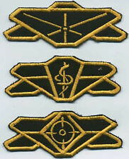 Babylon 5 Earth Force D 00004000 ivision Patch Set of 3: Command, Medical, Security