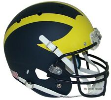MICHIGAN WOLVERINES MATTE BLUE SCHUTT XP FULL SIZE REPLICA FOOTBALL HELMET