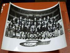 1969-70 8x10 Quebec Aces Black & White Glossy Photo