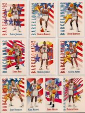 1991-92 SKYBOX MICHAEL JORDAN BIRD MAGIC OLYMPICS DREAM TEAM USA 10 CARD LOT