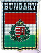 Hungary Coat of Arms Large Flag Stickers LOT NEW