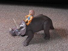 1987 Playskool Definitely Dinosaurs Triceratops with Grak Figure Lot
