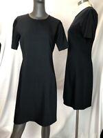 Clifford Michael Design Blue Sheath Dress Wool Size 10 Short Sleeve New $275 Tag