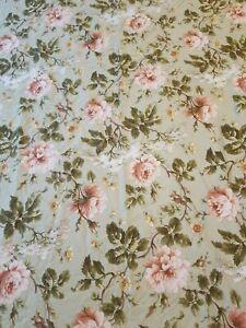 RALPH LAUREN Yorkshire Rose Full / Queen DUVET COVER Green Floral + Sham Rare