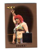 WWE Asuka NXT 2016 Topps Heritage Bronze Event Used Mat Relic Card SN 97 of 99
