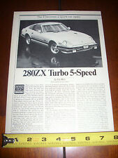1982 NISSAN 280ZX TURBO DATSUN - ORIGINAL ARTICLE