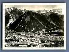 France, Chamonix et le Brévent, vue du Cascade de Blaitière  Vintage silver prin