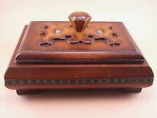 Ancienne boîte bois sculptée Objet d'ART Signé KOLESNIKOFF début XX ème wood box