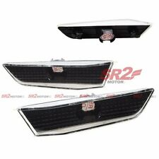 BLACK BUMPER SIDE MARKER CORNER LIGHT LAMP FITS FOR 03-07 INFINITI 2DR COUPE