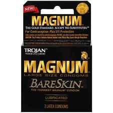 TROJAN Magnum Bareskin Lubricated Condoms 3 ea (Pack of 2)