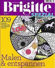 Brigitte Spezial  Malen und entspannen 109 Ausmalvorlagen  unbenutzt 1A abs. TOP