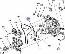 GM OEM-Engine Timing Chain Tensioner shoe 12568766
