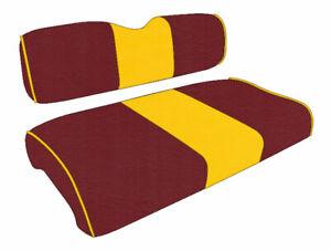 Golf Cart Custom Seat Covers Center Stripe EZGO Medalist/TXT 40+ Colors