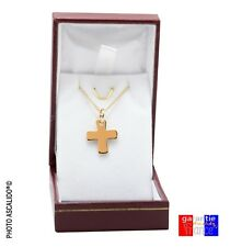 Pendant Greek cross of Malta and Chain 45cm for Real New Gold Plated with Box