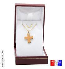 pendentif grec croix de malte et chaine  45cm en vrai plaqué or neuf avec boite