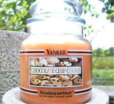 "Yankee Candle Retired Black Band ""CHOCOLATE CHIP COOKIE""~Medium 14.5 oz~RARE~NEW"