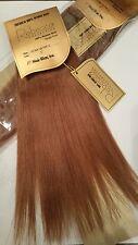 "QTY 2 pkgs 12"" #33 Rebecca 100% Human Hair Extension Weaving Yaki Straight 200G"