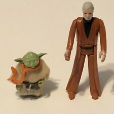 1977 Star Wars Yoda and Ben Obi Wan Kenobi action figures With Some Accessories
