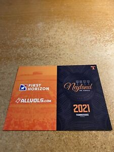 Tennessee, University of 2021 Football Pocket Schedule