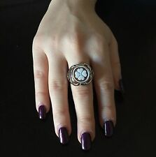 Anello in argento 925  cammeo fiore sardonico ring cameo flower Made in Italy